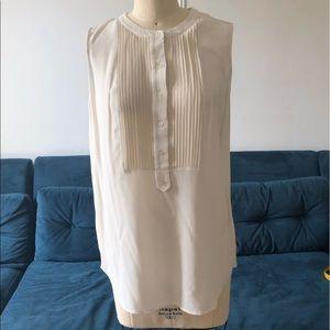 Vince. cream blouse with pleat details
